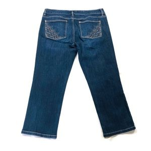WHBM Blanc Slim Crop Sz 10 Jeans